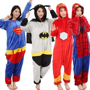 Homens Mulheres Para Casa Roupas de Flanela Siamese Pijama Manga Longa Dos Desenhos Animados Pijamas Multi Estilos de Flanela Confortável Grosso Quente Pijamas DH0937 T03