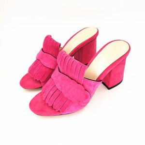 Fashion Summer Sandals Real Suede Leather Women's Shoes High Heels Pumps Women Open Peep Toe Shoes Top Quality Brands Shoes Y200702