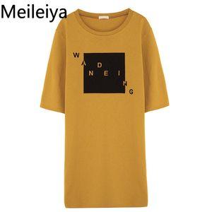 Kadın Baskılı Mektup Elbise 2019 Yaz Yeni Baskı Elbise Kısa kollu Öğrenci Giysileri