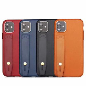 Ремешок для запястья ремешок для рук подставка кожаная текстура мягкий чехол TPU для iPhone X XS 11 Pro Max XR 6 7 8 Plus 5