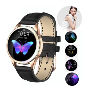2019 Moda KW10 relógio inteligente Mulheres IP68 Waterproof Heart Rate Monitoramento Bluetooth para IOS Android Pulseira de Fitness Smartwatch