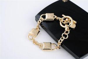 New York Berühmte Designer Armbänder Vorhängeschloss Toggle Link Armband mit Unterschrift Logo Berühmte Frauen Männer Armbänder mit Schmuck Taschen