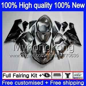 Körper für KAWASAKI ZX600 ZX 6R 600cc 6 R ZX636 2005 2006 210MY.69 ZX636 600 CC ZX6R 05 06 ZX600 ZX 636 ZX6R 05 06 Silber Flammen Fairing