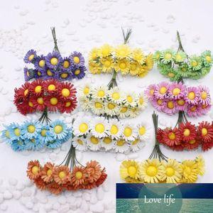 Kunstblumen gefälschte Blumen Simulation kleine Daisy Blume Sonnenblumen Sonnenblumengirlande DIY Materialien whol