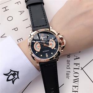 Reloj de vestir para hombre de la marca famosa estilo clásico de la manera del reloj de la correa de cuero de diseño Relojes de los hombres militares orologio di Lusso