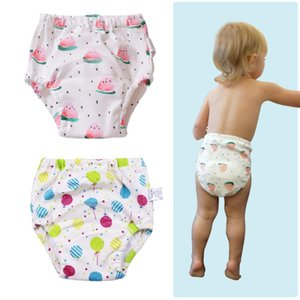 Bebê miúdos criança reutilizável Potty Training Pants Cotton Underwear fralda de pano Fraldas para recém-nascido Fraldas e Treinamento do toalete