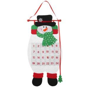 Big deal Christmas Advent Calendar Xmas New Year Ornaments 3D Felt Christmas Tree Home Wall Decoration Snowman