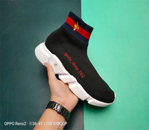 Balenciaga кроссовки скорость тренер носок hococal модные туфли тройной черный зеленый сапоги красные плоские Мужчины Женщины Повседневная обувь спортивная обувь