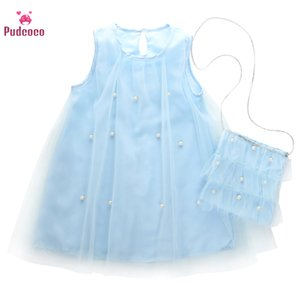 2020 Baby-Sommer-Kleidung Kleinkind-Baby-Kleid Geburtstags-Prinzessin Festzug-Partei-Abendkleid Hochzeit Perlen-Fee Kleidung 2-7T