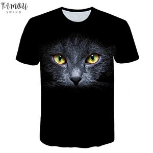 Fashion 3D Animal Pet Cat Print T Shirt For Short Women Harajuku Style Top Tees Female O Neck Short Sleeved T Shirt