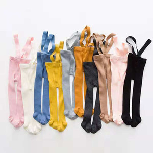 Cotton kids Pantyhose Newborn Baby Pants High Waist Cross Belt Baby Leggings Baby Boys Girls Pants