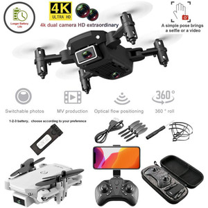 1pcs Dual Camera Drone 4K 1080P Mini Folding fixo Altura Aircraft Gesto Photo Four Axis aérea Remote Control Helicopter drones Toy E66