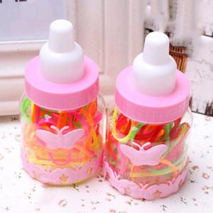 2pcs / set de la venta caliente de las gomas del pelo para las bandas de niño lindo caja colorida Hairband Para chica de pelo elástico de Headwear de los niños