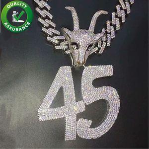 Mens Iced Out Hip Hop Ciondoli catena di lusso del progettista della collana di Hiphop dei monili delle donne del diamante di Bling Cuban link tennis Catene Rapper Accessori