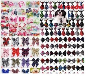 100pc lot Hot sale Colorful Pet Dog puppy Tie Bow Ties Cat Neckties Dog Grooming Supplies for small middle big dog 4 model