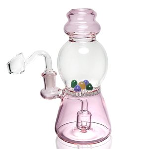 7.2 inches 3 colors glass bong glass bowl water pipe recycling honeycomb bubbler dab rig 14.5mm female free shipping