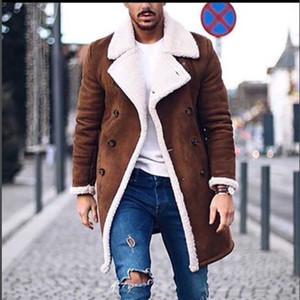 2018 Новой зима шерсть пальто Мужчина Отдых Длинные Разделы шерстяных Пальто мужская Pure Color Повседневная мода Куртка Повседневные Мужчины Шинель