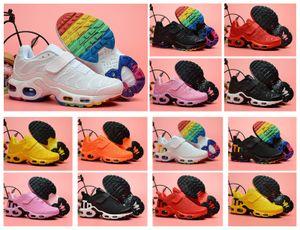 A juventude caçoa Tn 1S 2S Além disso GS Greedy SE OG CQ Meninas Criança Rapazes Crianças Mercuiales Running Shoes Formadores Chaussures Esporte Sneakers Size28-35