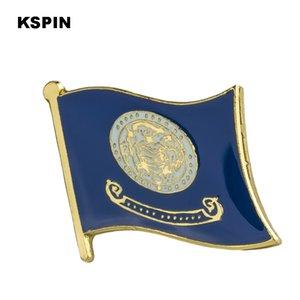 U.S.A Idaho Flag Pin de solapa Insignia de bandera Pasadores de solapa Insignias Broche XY0227