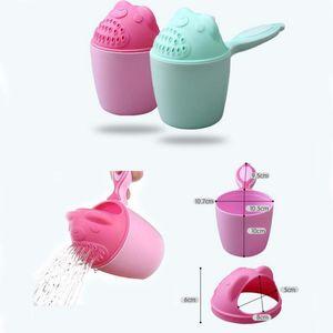 Baby Cute Cartoon Bath Caps Toddle Shampoo Cup Children Bathing Bailer Baby Shower Spoons Child Washing Hair Cup Kids Bath Tools