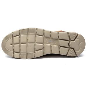 com caixa CAMEL Couro Men Casual sapatos confortáveis Moda Footwear macio do couro Homem masculino Shoes cuir mocassin