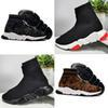 Fashion designer sock shoes triple black white mens womens Chaussures glitter volt blue pink mens trainers runner platform casua