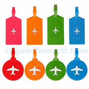 Doces cores Silica Gel Bag Tag Resuable retângulo forma redonda Bolsa Etiqueta Avião Padrão Tag Silicone Viagem Bagagem
