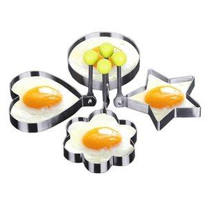 1pc Steel Fried Egg Shaper Pancake inoxydable Moule Omelette Moule Friture Egg Outils de cuisson Accessoires de cuisine Gadget