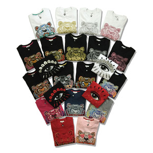 Tiger Head suéter marca de París Sudaderas bordadas pollver puro algodón terry camisetas de manga larga con letras originales KZ1-20 colores