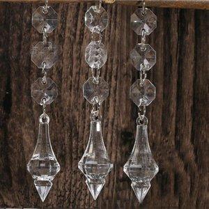 Acrílico Crystal Bead Garland Strand 14 mm Chains Bead gota pendente do casamento Props Peça central Decoração Cortina de suspensão Decor