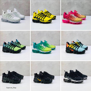 Lace Up 2019 TN Kids running shoes Triple Black Grey white Purple Infant & Children toddler Run trainers boy & girl sneakers