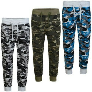 17 18 novos garotos adolescentes camuflagem Calça de Jogging Meninas Meninos Jogging Sweatpants esporte roupas 3-14 correr o melhor