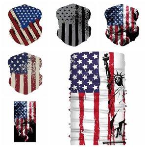 Велоспорт маски шарф унисекс бандана мотоцикл шарфы платок шеи маска для лица Открытый флаг США волшебные шарфы 5 стилей