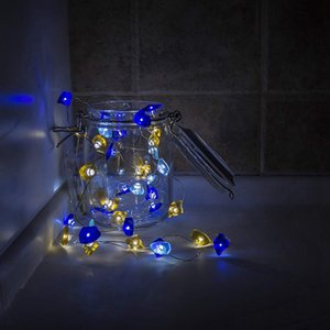 40 LED String Lights, Glass Decorative String Lights 10 Ft Battery Operated with 8-Modes Remote Control for Christmas Ornaments,