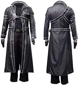 Anime Erkekler Sword Art Online Kirito Cosplay Kostüm Savaş Suit Siyah