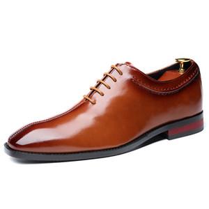 Robe Chaussures Hommes Derby Chaussures 2020 Nouveau Hommes d'affaires cuir Chaussures mariage grande taille de design de mode Hommes Top Qualité
