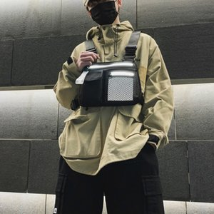 Abdomon Pack Shoulder Bags Men Chest Rig Bag Reflective Hip-hop Tactical Chest Bag Men Functional Vest Pack Male Waist Bags