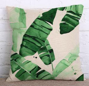 45x45cm Startseite Kissenbezüge Einseitiger Druck Anpassbare Leinen Kissenbezug Sofa Nordic Dekorative Kissen-Kasten-Kissen DH0565 T03