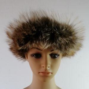 Cappello donna cappello femminile vera cappelli di pelliccia di volpe fascia adulto ragazza calda autunno inverno testa banda hairband 10pcs / lot consegna espressa gratuita