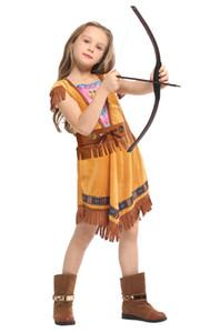 Shanghai Story Festa di Carnevale Halloween Indiano nativo Principessa Cacciatore Costume Cosplay per Ragazze