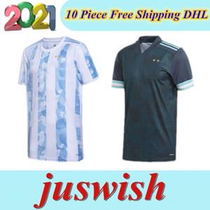 2020 Argentina de fútbol camisetas de local # 10 MESSI la camisa del fútbol 19/20 Copa América Lejos # 9 # 21 AGUERO Dybala # 22 Uniformes de fútbol LAUTARO