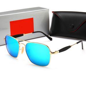 RayBan RB2168 Vente de nouvelles lunettes de soleil de designer de mode pilote cadre creux classique simple de lunettes de soleil en chrome de qualité supérieure objectif uv400