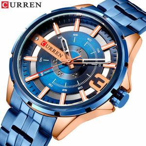 CURREN Blue Design Montre unique Mode Hommes Montres-bracelets bracelet en acier inoxydable Quartz Montres Top Marque de luxe Montre Homme Reloj