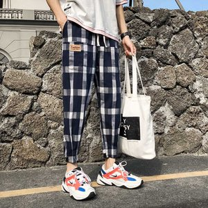 YASUGUOJI Neue 2020 Herbst Mens Pants Fashions Men Casual Männer karierte Hose Street Kontrast Farbe Big Plaidhosen