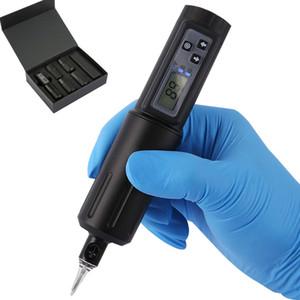 Sans fil Rotary écran LCD machine de tatouage de la batterie Tattoo Pen 3.5mm Stroke aiguille Cartouches Tattoo Gun