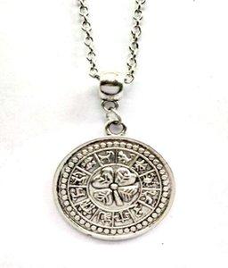 20pcs Tetragrammaton Pentagram geri dönüşümlüdür Burç Kolye kolye Vintage Gümüş Sihirli Yaka gerdanlık Gotik Cadı Kolyeler Takı Kadınlar