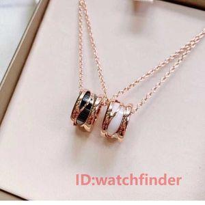 Brand New Silver mode Rose or blanc en céramique de luxe bijoux femmes diamant fleur glacée perle croix bzero1 designer femmes colliers
