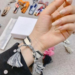 New Woven Hand Rope Hand-embroidered Alphabet Bracelet Top Luxury Design Bracelet Men and Women with The Same Hand Rope