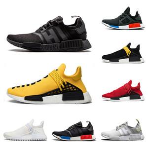Adidas NMD Human Race pharrell williams CHEAP chaussures de course pour hommes femmes Échantillon Jaune Vert Rouge Oreo designer sport baskets chaussure de tennis