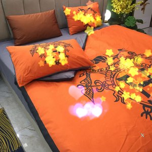Bed Comforters Sets Fashion Luxury Cotton Four-piece Bedding Sets with Bed Sheets and Two Pillowcase 2020